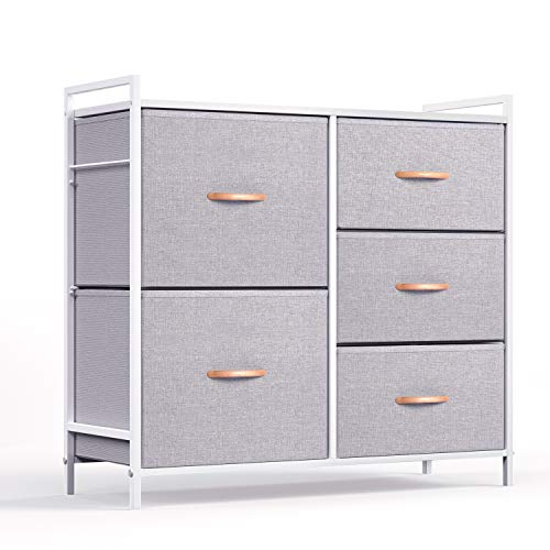 Amazon.com: WeHome - Organizador de ropa con 5 cajones, tela ...