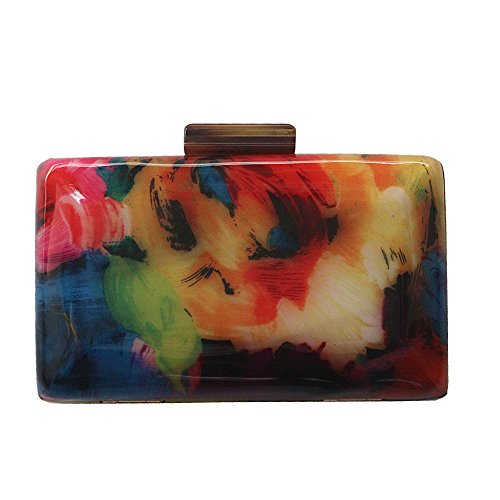 New Clutch evening bag Acrylic Fashion Woman designers Luxury Flower Print Women Shoulder bag Casual - Clutch Vintage Print