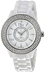 New Ladies Christian Dior VIII Huit Eight Automatic Ceramic Watch CD1245E5C001