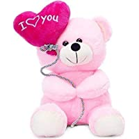 MSY TOYS Soft Plush I Love You Balloon Heart Teddy Bear / Balloon Teddy Bear for Someone Special Gift Item Girls/Boys -20Cm