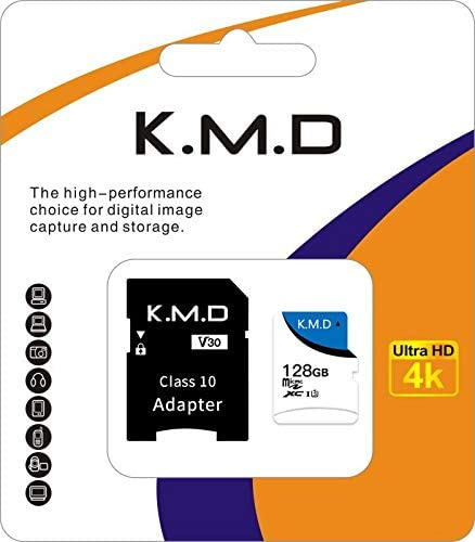 K.M.D microSDXC Memory Card + SD Adapter with A1 App Perform