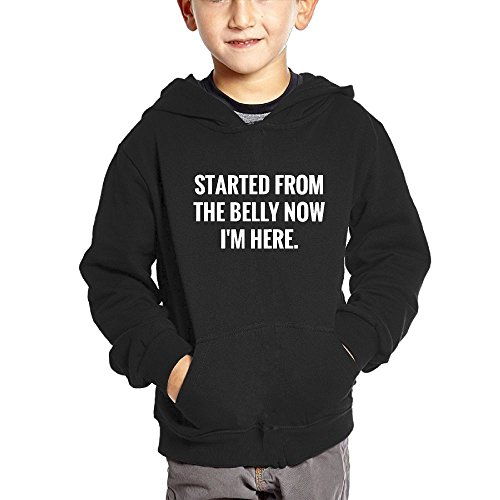 Started From The Belly Now I'm Here Children's The go Hooded Hoodies With Pocket