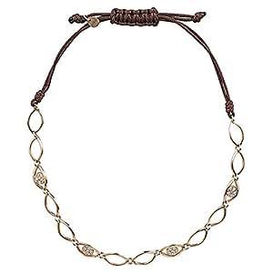 365Love Women's 18K Gold Diamond Bracelet, 2.89 g