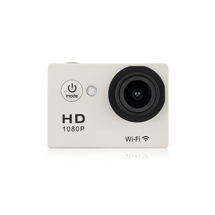 Excelvan Y8 Videocámara Deportiva de Acción (WiFi, 12MP Full HD 1080p Video, 30m Sumergible)