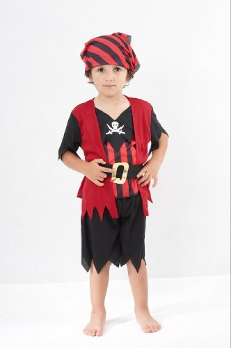 [Toddlers Pirate Boy Mate Costume] (Toddler Boys Pirate Costumes)