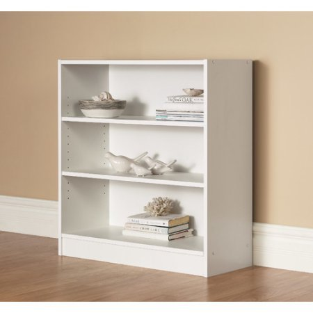Orion Wide 3-Shelf Bookcase (white) by Orion