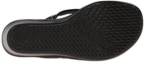 Memoria de los ojos de la espuma de la cuña de la sandalia de Skechers Cali estruendores gato Black