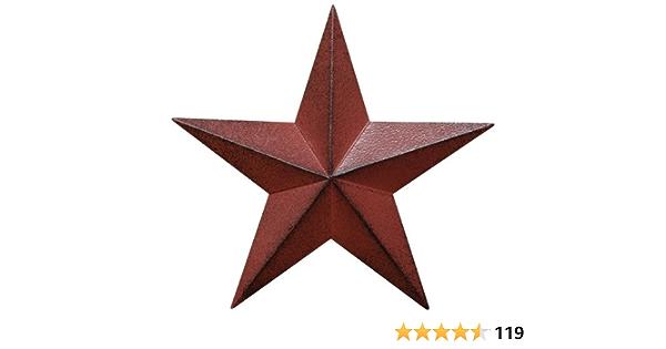 Mini Punched Star Colander Black Rustic Primitive Country Metal Kitchen Decor