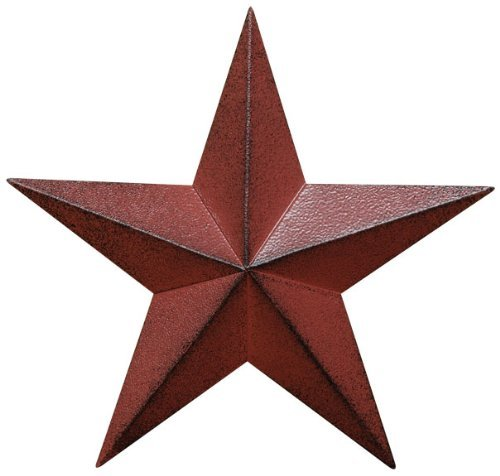 Star Large Barn - Large Scale Dimensional Barn Star Distressed Country Red & Black Primitive Farm Wall Décor