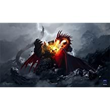 1x Max Protect DEATH GRIP Playmat DRAGON ART for Magic MTG Pokemon YuGiOh Play Mat by Max Protect
