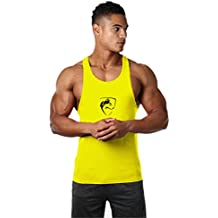 WWL Fashion Men's BodyBuilding Tank Tops Stringer Gym Fitness Vest Workout Breathable Wolf Painting 3D Printed...