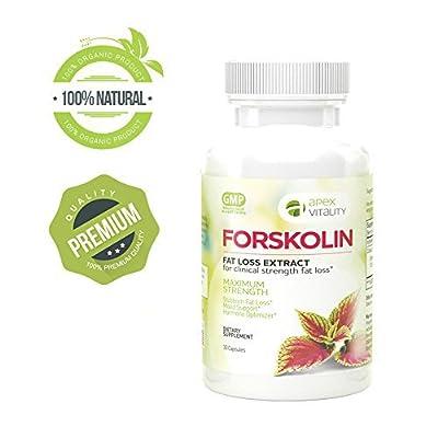 Forskolin - High potency fat burner | Burn belly fat | Boosts metabolism | Appetite suppressant control | Diet pills| Slim fast | 100% natural extract | Maximum strength | Weight loss enhancer |