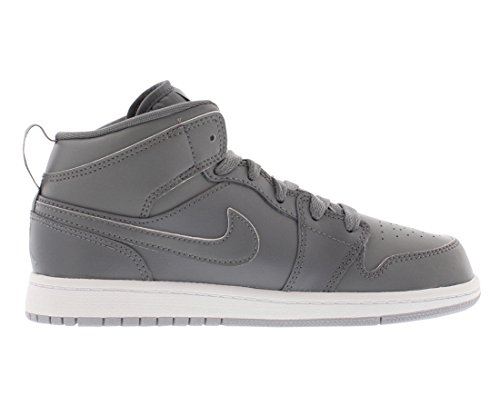 Nike Boy 's Air Jordan 1 (Mid) Zapatillas de baloncesto Gris/Gris/Blanco (COOL GREY/WOLF GREY/WHITE)