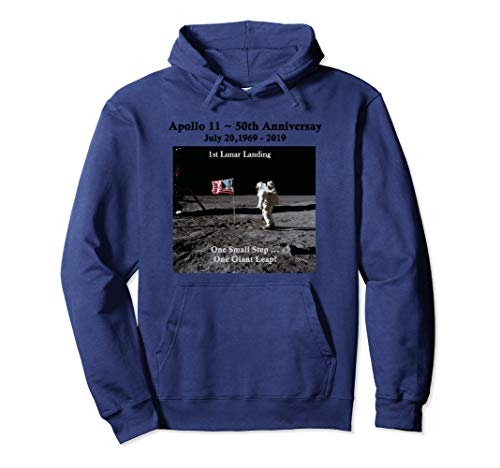 Apollo 11 50th Anniversary Commemorative 1st Lunar Landing Pullover Hoodie