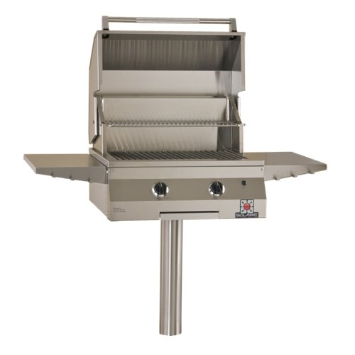 Solaire 27-Inch Deluxe InfraVection Natural Gas In-Ground Post Grill, Stainless Steel