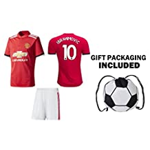 JerzeHero Manchester Ibrahimovic Soccer Jersey #10 Kids & Men's 3 in 1 Gift Set ✓ Soccer Jersey ✓ Shorts ✓ Soccer Ball Backpack ✓ Youth OR Adult Sizes ✓Home or Away ✓ Short Sleeve or Long Sleeve