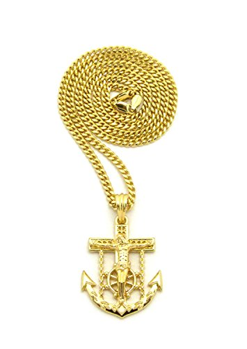 Crucified Anchor Pendant Various Necklace product image