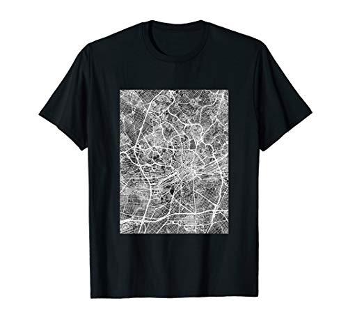 Frankfurt Germany City Map T-Shirt -
