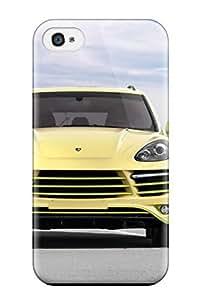 High-quality Durability Case For Iphone 4/4s(2012 Topcar Porsche Cayenne Vantage 2 Lemon Front Cars Porsche)