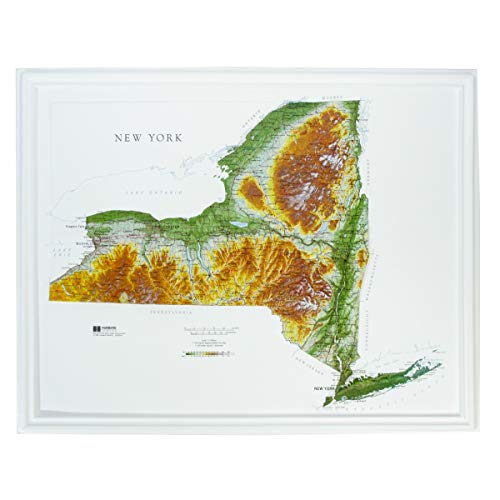 - Hubbard Scientific Raised Relief Map 952 New York State Map