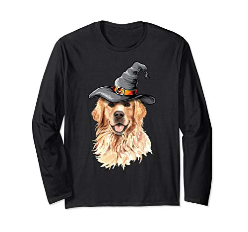 Golden Retriever Halloween Costumes Shirt Gifts Funny Dog Long Sleeve T-Shirt -