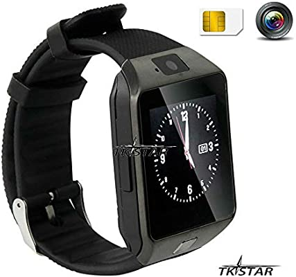 1.56 TFT LCD Touch Screen Smart Reloj Smart Watch Smartphone con Android Sistema Bluetooth Fitness Dormir Monitor Audio Play Facebook dz09 Negro: Amazon.es: Electrónica