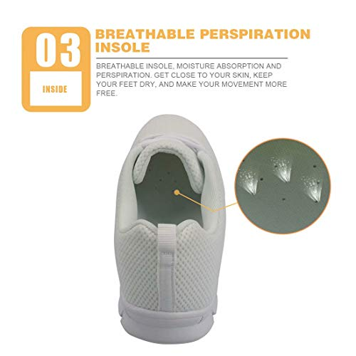5 Traspirante Lacci Corsa Da Polero Con Scarpe Sneaker Donna Per w4vq1Sqn