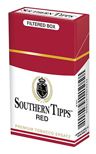 Southern Tipps Red Pack - Tobacco Free - Nicotine Free - Herbal - Cigarette Alternative