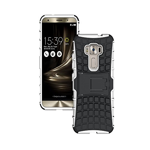 Shockproof Armor TPU/PC Case for Asus Zenfone Max (White) - 9