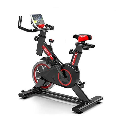 WuoooLi Bicicleta de Spinning, Asiento Ajustable,con Pantalla LCD,Equipo de Entrenamiento de Entrenamiento Cómodo Cojín…