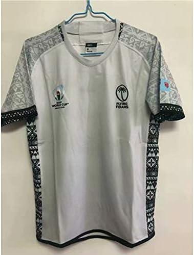 ラグビージャージー2019日本ワールドカップフィジーチームトレーニングサッカージャージースウェットシャツ半袖パーフェクトギフト学生に最適子