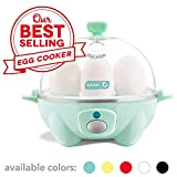Dash Rapid Egg Cooker: 6 Egg Capacity Electric Egg Cooker for Hard Boiled Eggs, Poached Eggs, Scrambled Eggs, or Omelets with Auto Shut Off Feature - Aqua