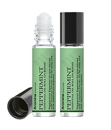 - Peppermint Essential Oil Roll On, Pre-Diluted 10ml (Pack of 2)