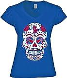 America's Finest Apparel Philadelphia Basketball Sugar Skull Shirt - Women's