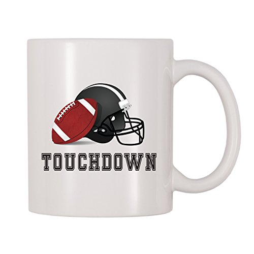 4 All Times Touchdown Football Mug (11 oz) (Best Looking College Football Players)