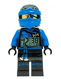 LEGO Kids 'Ninjago Sky Pirates' Quartz Blue Alarm Clock Watch