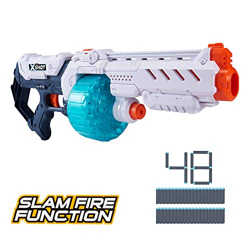 Best X-Shot Excel Turbo Fire Foam Dart Blaster with Slam-Fire Function (48 Darts) by Zuru