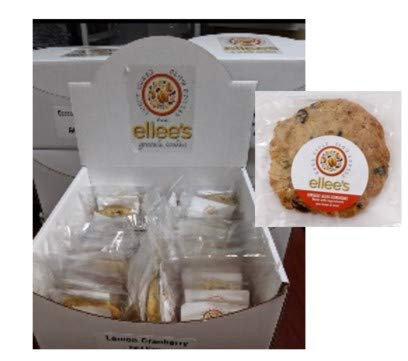 Ellee's Gluten Free Delights – Box of 15 individually wrapped 3 oz Gluten Free Coconut Chocolate Chip Cookies