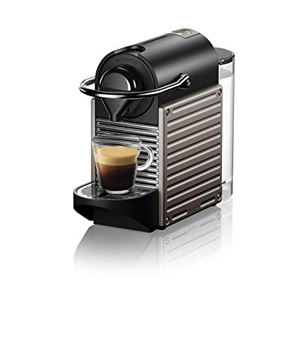 Breville-Nespresso USA BEC430TTN1BUC1 Nespresso Pixie by Breville – Titan Single-serve, capsule espresso maker, One Size,