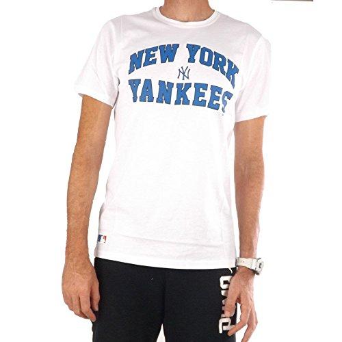 T-Shirt New Era – Mlb New York Yankees Border Edge II College bianco formato: M (Medium)
