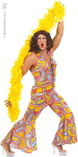 (XL Mens 70s Funky Chick Costume Extra Large For 1970's Disco Hippy Hippie)