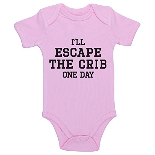 Escape Thong - Promini Funny I'll Escape The Crib One Day Bodysuit Cute Infant One-Piece Baby Bodysuit Baby Romper