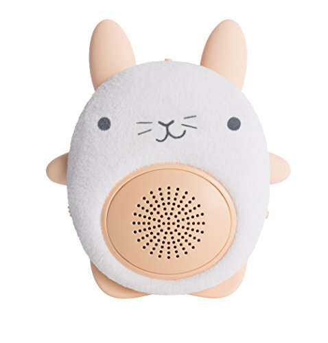 SoundBub, White Noise Machine and Bluetooth Speaker | Portable and Rechargeable Baby Shusher Sleep Sound Soother by WavHello - Bella the Bunny, White (Belle Wave)
