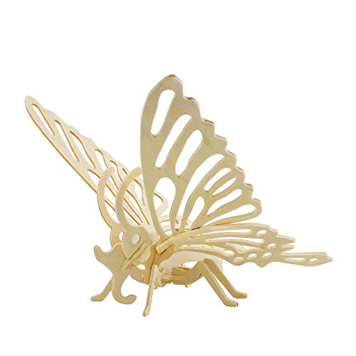 Hands Craft JP204 DIY 3D Wooden Puzzles (Butterfly)]()