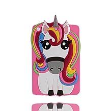 iPad Mini 2 étui, iPad Mini 2 Coque,iPad Mini 2 case. iPad Mini 2 cover,3D Magical Unicorn Pony Animal caoutchouc doux [Shock Proof] case cover pour iPad Mini 2 -pink