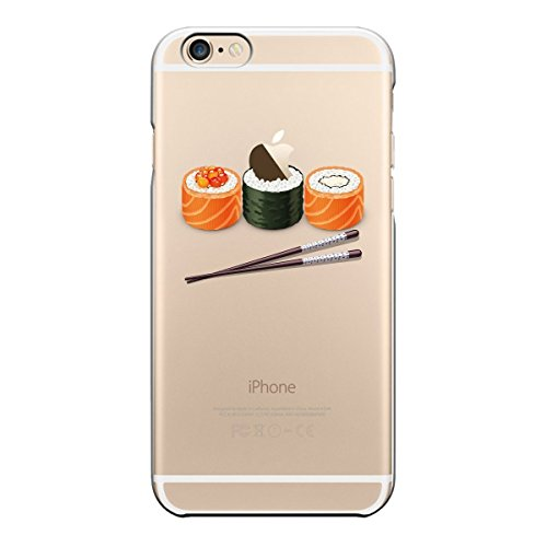 iPhone6S Case iPhone6 Case Matop Flexible Soft Transparent TPU Back Cover Silicone Skin Scratch-Resistant Premium Anti-Slip Shockproof Cute Cover for iPhone 6 6S, 4.7 - Logo Sushi
