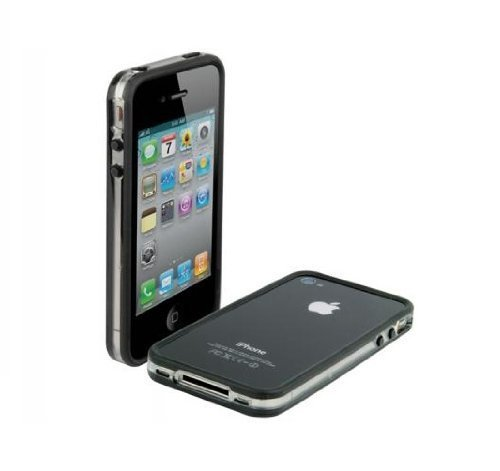Scosche Clear Case (Scosche bandEDGE Case for iPhone 4 - Clear/Black - Fits AT&T iPhone)