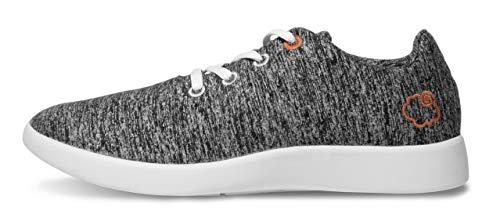 LeMouton Classic Unisex Wool Shoes | Men Women Fashion Sneakers | Comfortable Lightweight Casual Shoe (US Women 10 / US Men 9, Dark - Mens Sandals Fox