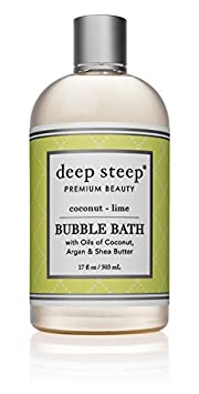 Deep Steep Bubble Bath, Brown Sugar Vanilla, 17 Ounce 30070