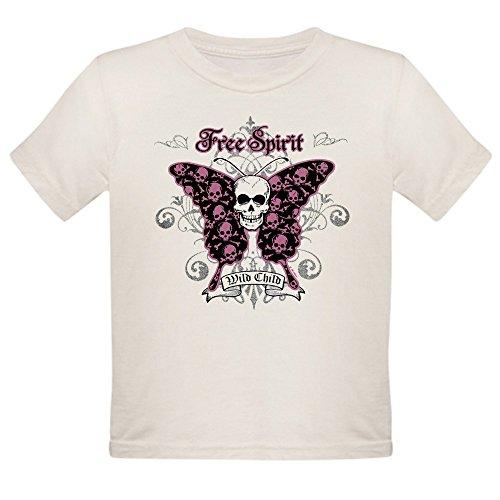 - Royal Lion Organic Toddler T-Shirt Butterfly Skull Free Spirit Wild Child - 4T